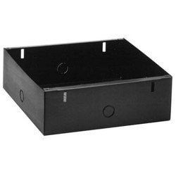 """Speaker Back Box, Heavy Duty, Square, Recessed Mount, Multiple Attachment Point, 11.875"""" Width x 4"""" Depth x 11.625"""" Height, 16 Gauge Steel"""