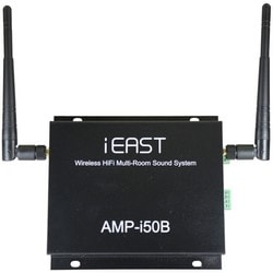 """Wi-Fi Streaming Stereo Amplifier, 24-Bit, 24 Volt, 3.3 Ampere, 192 Kilohertz, 300 Mbps, 3 dB Antenna Gain, 95 dB Signal to Noise Ratio, 5.75"""" Length x 5.25"""" Width x 1.25"""" Height"""