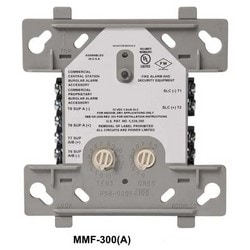 """Monitor Module, Standard, Addressable, 15 to 32 Volt DC, 5 Milliampere, 4"""" Width x 1.25"""" Depth x 4.5"""" Height, Mounts to 4"""" Square x 2.125"""" Depth Box"""