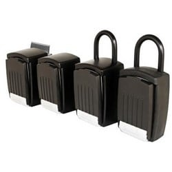Key Storage Lock Box, Punch Button Entry, Metal Frame, With Hardened Steel Shackle