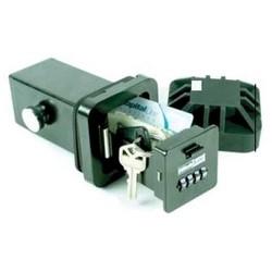 "Key Storage Lock Box, 9-Key, Solid Metal, With 1/4"" Steel Receiver Tube"
