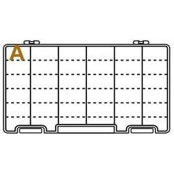 """Compartment Box, 6-Compartment, 10-5/8"""" Length x 6-5/8"""" Width x 1-9/16"""" Depth Inside, Polypropylene, Translucent, With (12) Removable Divider, Integral Latch"""