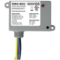 """Enclosed Relay, 2-Dry Contact Input, SPDT, 120 Volt AC, 20 Ampere, 1.8 Second Operating Time, 3.2"""" Length x 2.3"""" Width x 1.8"""" Depth"""