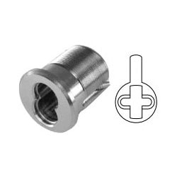 """Mortise Interchangeable Core Housing, 7-Pin, Sargent Cam, 1-3/8"""" Length, Solid Brass, Satin Chrome, For 7-Pin Core"""