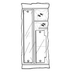Filler Plate Kit, Prime Coated, For 86 Cutout, 2pc - Mortise Pocket & Srike Plate Filler