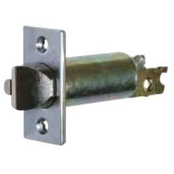 "Deadlock Gate Latch Mechanism, Square Corner, 2-3/8"", Bright Brass"
