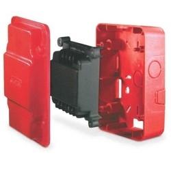 """Module de contrôle de synchronisation, AVSM groupables, 12/24 volts DC, 27/37 milliampères, 1 Hertz Flash taux, 3,82"""" largeur x 1,32"""" profondeur x 3,85"""" hauteur, rouge"""