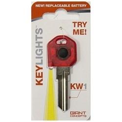 Key Blank, Kwikset, Keylights, 5-Pin, Red