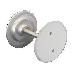 "Door Hole Filler Disc Kit, 1-5/8"" Diameter Disc, Aluminum, Clear, Includes (2) Disc, (1) Threaded Rod"