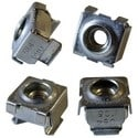 "Panel Rail Cage Nut, 0.375"" Square Hole, #10-32 TPI, Spring Steel, Zinc Plated, 25 each per Pack"