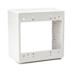 "Dual Gang Junction Box, 2.77"" Deep, PVC, Office White, 1/bag"