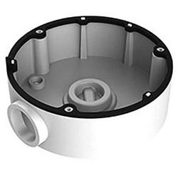 Camera Wire Intake Box, Conduit Base, 110 MM Diameter x 40 MM Depth, Aluminum Alloy, Black, For Dome Camera