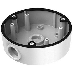 Camera Wire Intake Box, Conduit Base, 135 MM Diameter x 42 MM Depth, Aluminum Alloy, Black, For Dome Camera