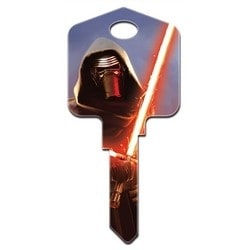 Decorative Key Blank, Kwikset, Painted, Star Wars First Order Design, Individually Carded