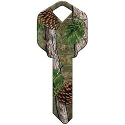 Decorative Key Blank, Kwikset, Pine Camouflage Design