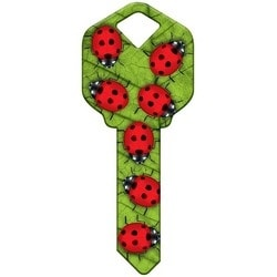 Decorative Key Blank, Kwikset, Ladybugs Design