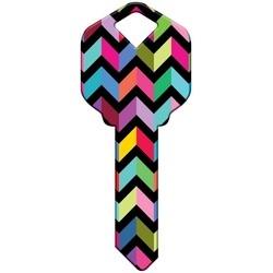 Decorative Key Blank, Schlage, Chevron Design