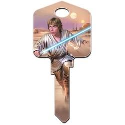 Decorative Key Blank, Kwikset, Painted, Star Wars Luke Skywalker Design, Individually Carded
