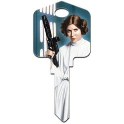 Decorative Key Blank, Schlage, Painted, Star Wars Princess Leia Design, Individually Carded