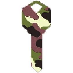 Decorative Key Blank, Kwikset, Camouflage Design