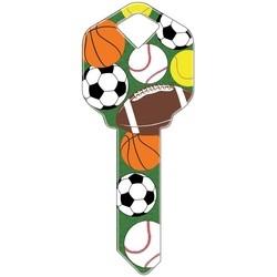 Decorative Key Blank, Kwikset, Sports Design