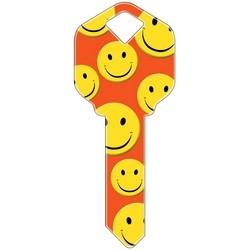 Decorative Key Blank, Schlage, Happy Faces Design