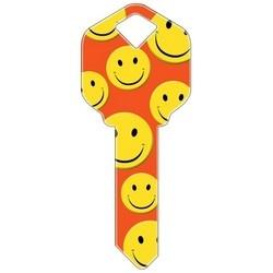 Decorative Key Blank, Kwikset, Happy Faces Design