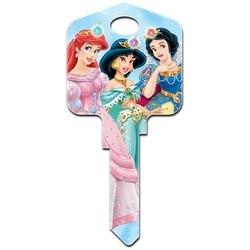 Decorative Key Blank, Kwikset, Large Headed, Painted, Disney Princesses 2 Design, Individually Carded