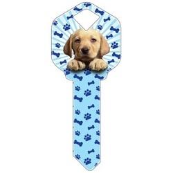 Decorative Key Blank, Kwikset, Puppy Design