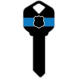 Decorative Key Blank, Schlage, Police Design
