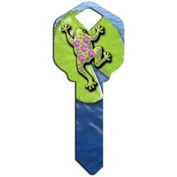Decorative Key Blank, Kwikset, Sparkle Frog Design, With Crystal Rhinestones