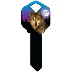 Decorative Key Blank, Schlage, Wolf Design