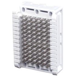 "Cross Connect Block, Modular 66B, 6-Pair, 3.9"" Length x 2.8"" Width x 1.2"" Height, White"