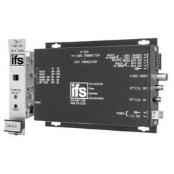 Video Receiver/Data Transmitter, Multimode, Rack Mount, 2-Fiber, 62.5/125 Micrometer Fiber, 2 Miles Distance, 5 Hertz to 6 Megahertz, With Bi-Directional Data/Tamper Switch