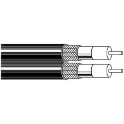 Coax - 735A* Series 26 AWG PE BRD PVC DUAL Gray