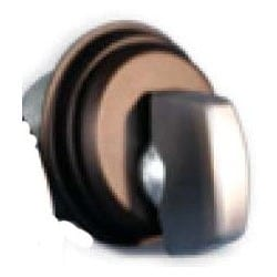 """Lock Cylinder Thumbturn, Mortise, AR MS-Type Cam, 1-5/32"""" Diameter x 1"""" Length, 3/16"""" Ring, Anodized Bronze"""