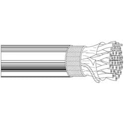 Multi-Conductor - Low Capacitance Computer Cables for EIA RS-232/422 4-Pair 24 AWG FHDPE SH PVC Chrome