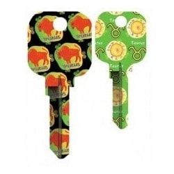 Groovy Key, Taurus Pattern, CG Price Group, For Schlage