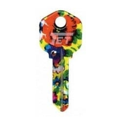 Groovy Key, Floral Burst Pattern, CA Price Group, For Kwikset