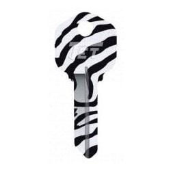 Groovy Key, Zebra Pattern, CA Price Group, For Schlage