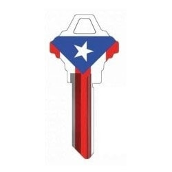 Groovy Key, Flag of Puerto Rico Pattern, CA Price Group, For Kwikset