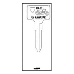 Key Blank, Foreign Auto, Nickel Plated, SJ Price Group, For Kawasaki Motorcycle