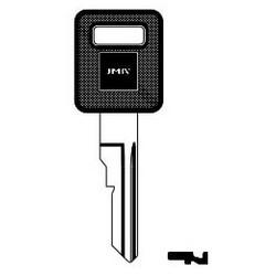 Car Key Blank, B77P, Plastic Head, Brass, Nickel Plated, For General Motors