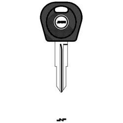 Car Key Blank, Transponder, DWO5T5, Brass, Nickel Plated, For Daewoo
