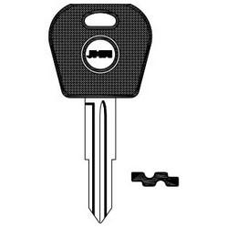 Car Key Blank, DW04RAP, Brass, Nickel Plated, For Daewoo
