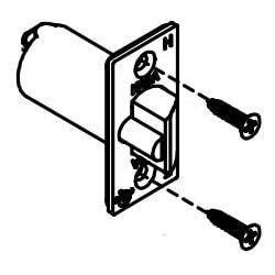 """Mechanical Lock Latch, Fire Rated, 1/2"""" Floating Face, 2-3/4"""" Backset, Satin Chrome, With Screw, For 5000 Series Mechanical Lock"""