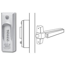 Mechanical Pushbutton Lock, Heavy Duty, Satin Chrome