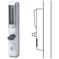 Mechanical Pushbutton Lock, Combination Entry/Key Override/Passage/Lockout, Duranodic Powder Painted, With Thumbturn