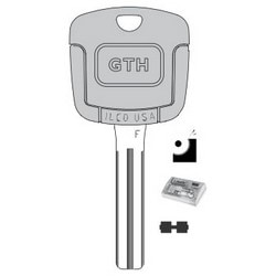 Vehicle Key Kit, A, Electronic Key, Cloning Tool, Brass, Nickel Plated, 62 Price Group, For Chrysler