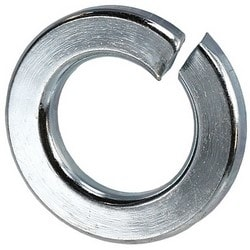"Lock Washer, 3/8"" Diameter, Steel, Zinc Plated, For Screws and Bolts, 100 each per Pack"